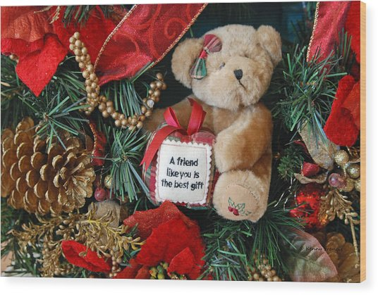 Teddy Bear Friends Wood Print