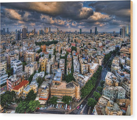 Tel Aviv Lookout Wood Print