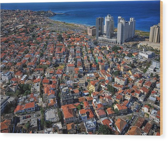 Tel Aviv - The First Neighboorhoods Wood Print