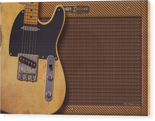 Telecaster Deluxe Wood Print