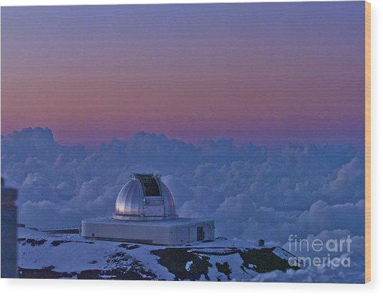 Telescope Wood Print by Karl Voss