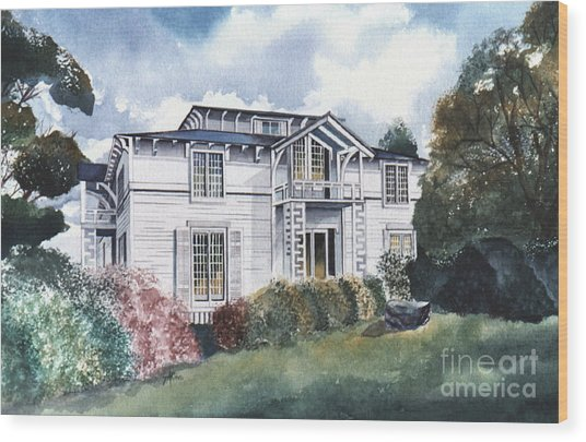 Tellico Johnson Mansion  Wood Print