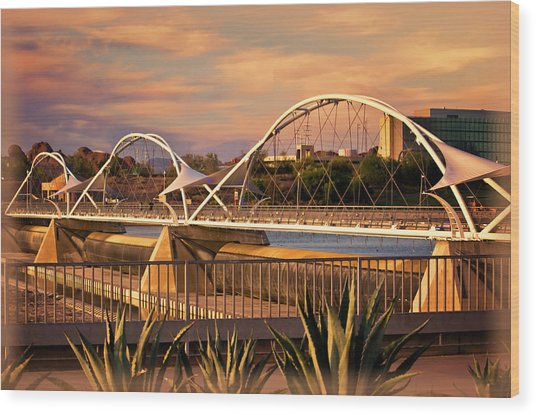 Tempe Pedestrian Bridge Wood Print