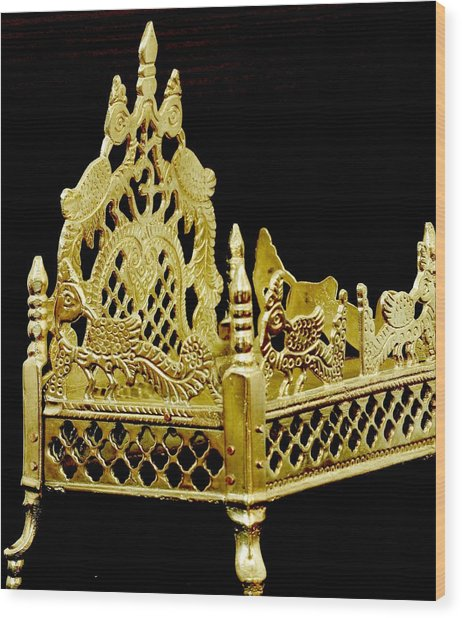 Temple Art - Brass Handicraft Wood Print