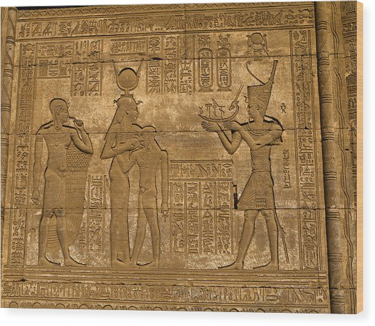 Temple At Denderah Egypt Wood Print