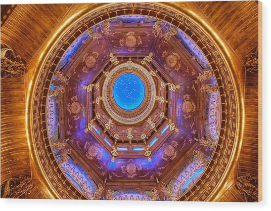 Temple Ceiling Wood Print