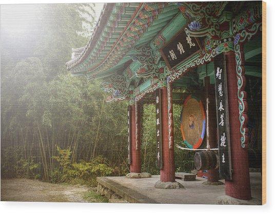 Temple Drum Wood Print