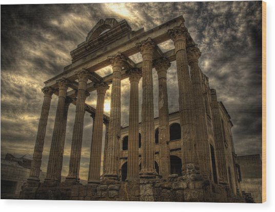 Temple Of Diana Wood Print