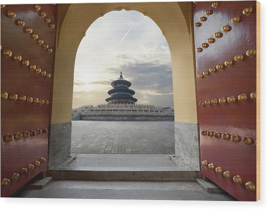 Temple Of Heaven Wood Print by Zyxeos30
