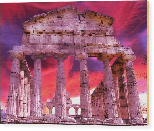 Temple Of The Gods Wood Print