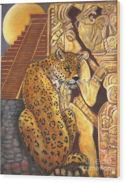 Temple Of The Jaguar Wood Print