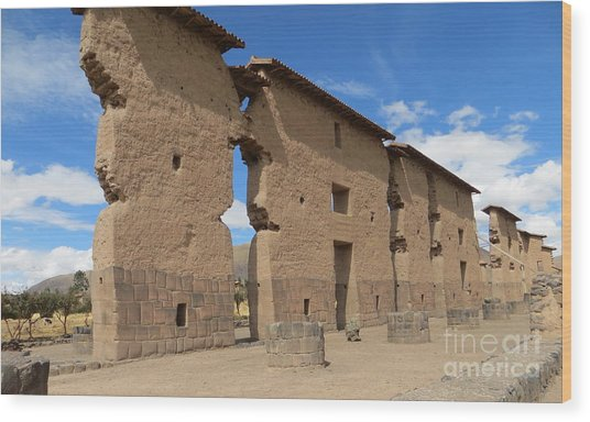 Temple Of Wiracocha Wood Print