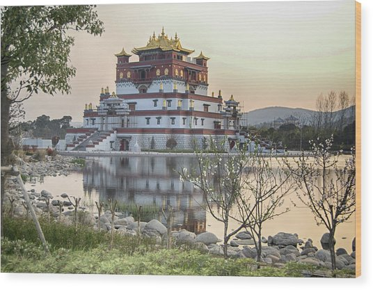 Temple Wuxi China Color Wood Print