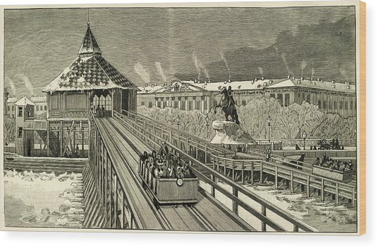 Temporary Railway Constructed Wood Print by Mary Evans Picture Library