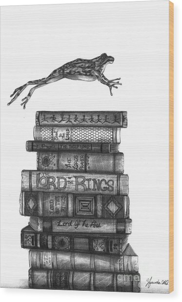 Ten Lords A Leaping Wood Print