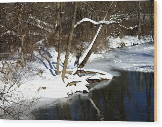 Ten Mile River Ne View Wood Print by Barbara Giordano