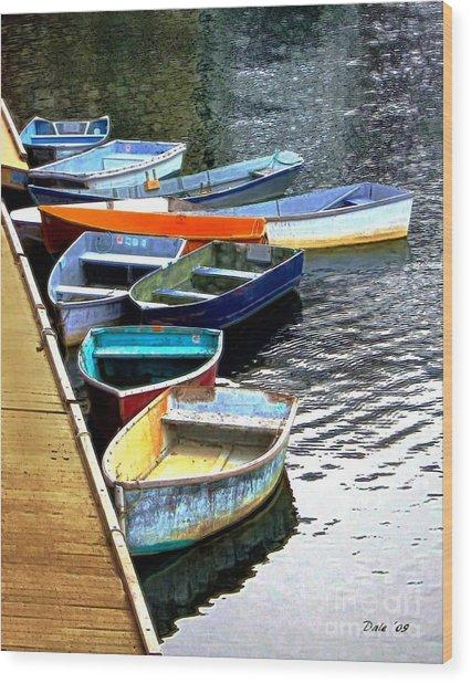 Ten Rockport Dinghies Wood Print