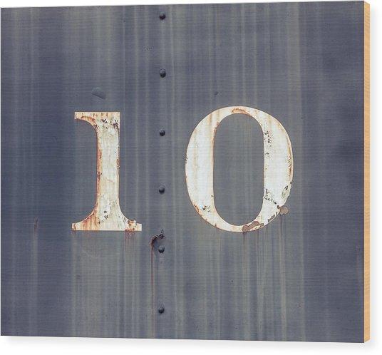 ten Wood Print