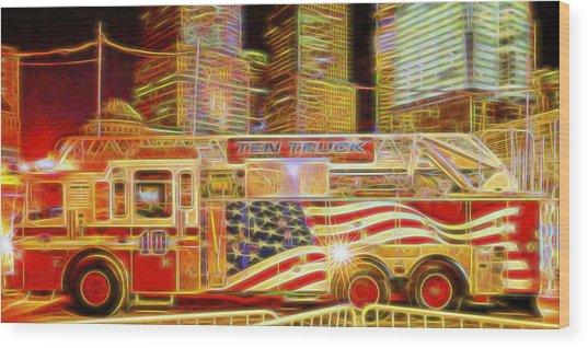 Ten Truck Wood Print