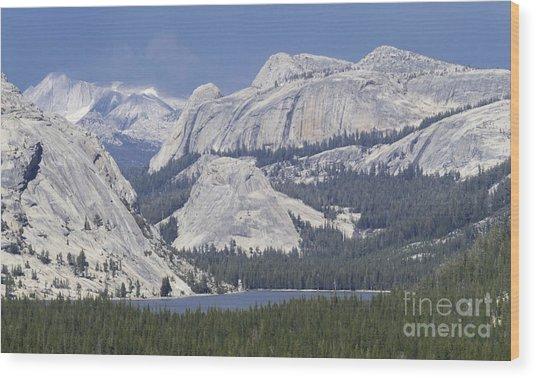 Tenaya Lake Grandeur Wood Print