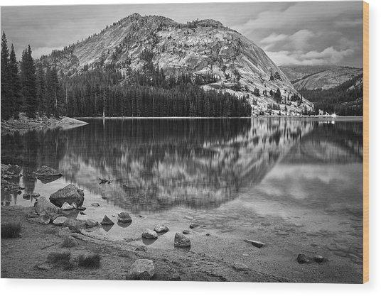 Tenaya Lake In Yosemite In Bw Wood Print