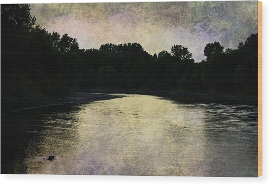 Tender Sundown Wood Print