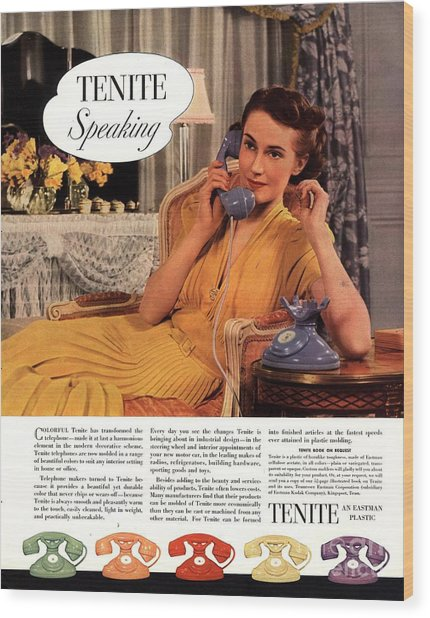 Tenite 1930s Usa Wood Print by The Advertising Archives