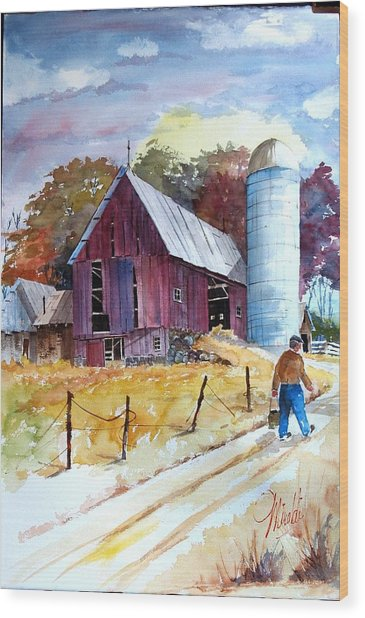 Tennesee Farm Wood Print