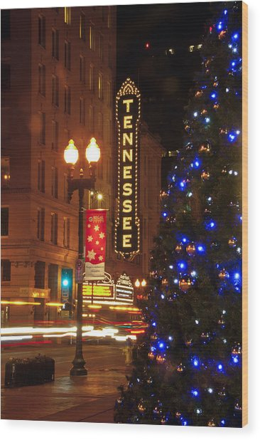 Tennessee Christmas Wood Print