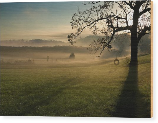 Tennessee Landscape Wood Print