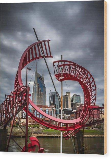 Tennessee - Nashville Through Sculpture Wood Print