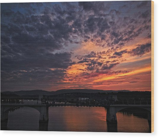 Tennessee River Sunset 2 Wood Print