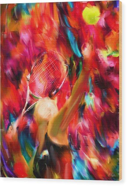 Tennis I Wood Print