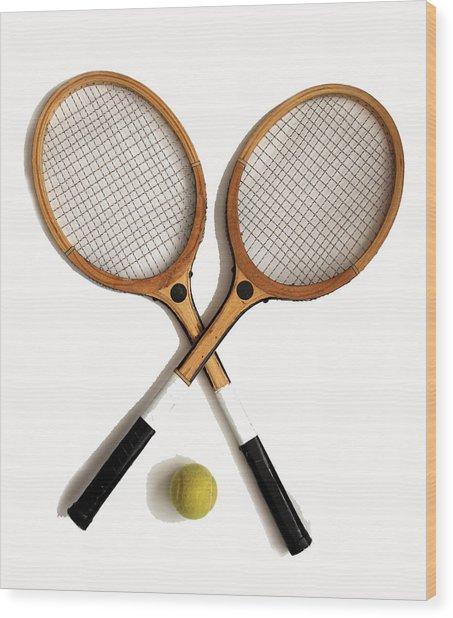 Tennis Sports Wood Print