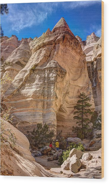 Tent Rocks No. 2 Wood Print