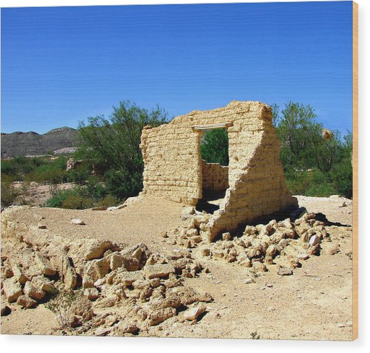 Terlingua Texas Ghost Town Wood Print