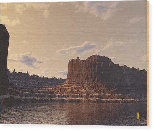 Terra 1 Wood Print
