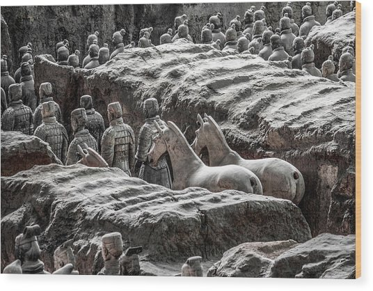 Terracotta Soldiers 1 Wood Print