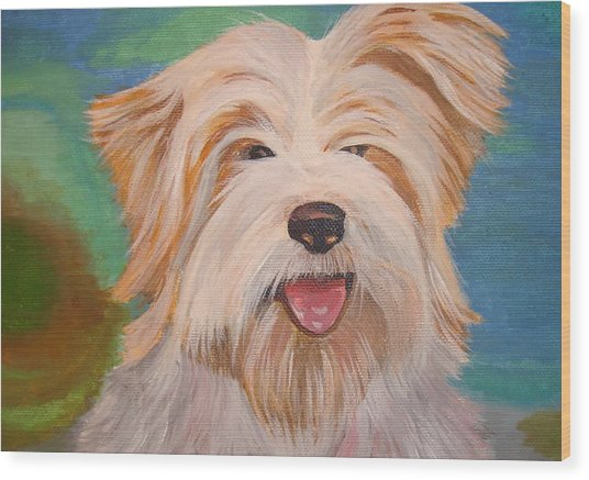 Terrier Portrait Wood Print