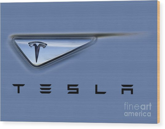 Tesla Artwork Wood Print