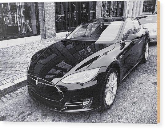 Tesla Model S Wood Print