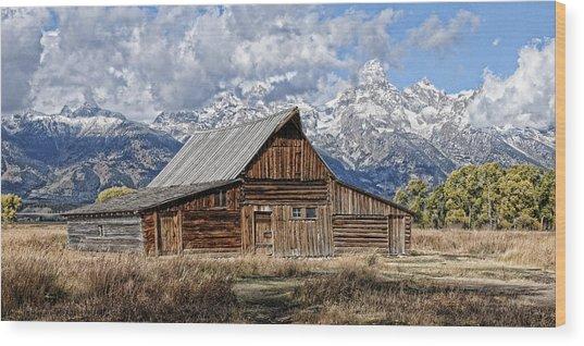 Teton Barn 3 Wood Print