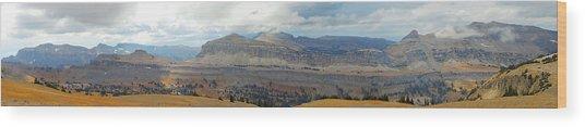 Teton Canyon Shelf Wood Print