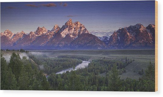Teton Panorama Wood Print