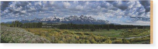 Teton Panorama Wood Print