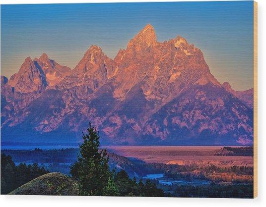 Teton Peaks Wood Print