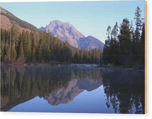 Teton Reflecions Wood Print