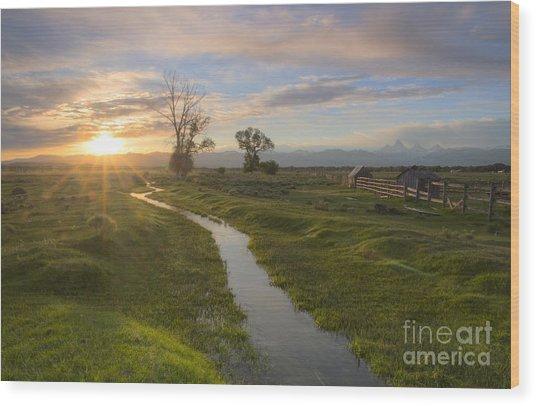 Teton Valley Morning Wood Print