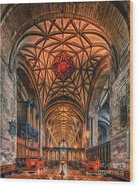 Tewkesbury Abbey IIII Wood Print