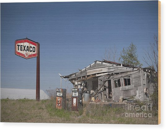 Texaco Country Store Wood Print